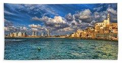 Tel Aviv Jaffa Shoreline Hand Towel
