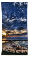 Tel Aviv Sunset At Hilton Beach Hand Towel