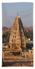 Temple At Hampi Hand Towel