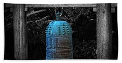 Temple Bell - Buddhist Photography By William Patrick And Sharon Cummings  Hand Towel