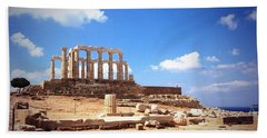 Temple Of Poseidon Vignette Hand Towel