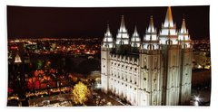Temple Square Bath Towel by David Andersen