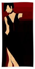 Temptress Hand Towel by Persephone Artworks