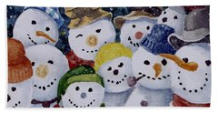 Ten Little Snowmen Bath Towel