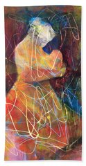 Tender Moment Hand Towel by Marilyn Jacobson