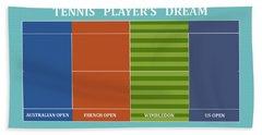 Tennis Player-s Dream Hand Towel by Carlos Vieira