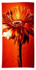 Tequila Sunrise Zinnia Hand Towel by Sherry Allen