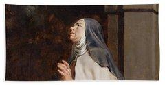 Teresa Of Avilas Vision Of A Dove Bath Towel