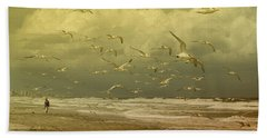 Terns In The Clouds Bath Towel