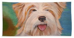 Terrier Portrait Bath Towel by Tracey Harrington-Simpson