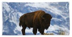 Teton Bison Hand Towel