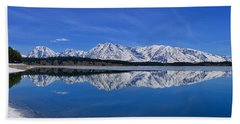 Teton End Of Winter Reflections Bath Towel