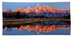 Bath Towel featuring the photograph Teton Majesty by Benjamin Yeager