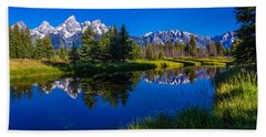 Teton Reflection Bath Towel by Chad Dutson