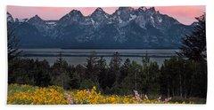 Teton Spring Hand Towel by Leland D Howard