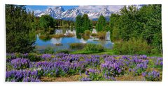 Teton Spring Lupines Hand Towel