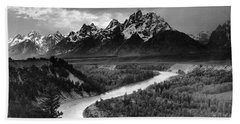 Tetons And The Snake River Hand Towel