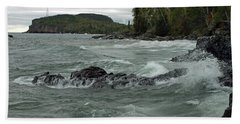 Tettegouche State Park Bath Towel by James Peterson
