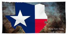 Jensen Ackles Texas Quote Hand Towel