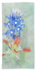 Texas Bluebonnet And Indian Paintbrush Hand Towel