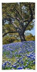 Texas Bluebonnet Hill Bath Towel