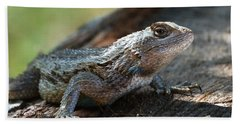 Texas Lizard Bath Towel