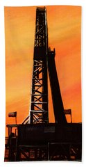 Texas Oil Rig Bath Towel
