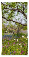 Texas Roadside Wildflowers 732 Hand Towel