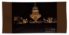 Hand Towel featuring the photograph Texas State Capital by John Telfer