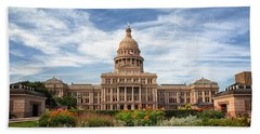 Texas State Capitol II Hand Towel by Joan Carroll