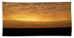 Hand Towel featuring the photograph Texas Sunset by Ed Sweeney