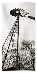 Texas Windmill Bath Towel