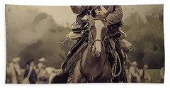 Texican Cavalry Bath Towel by Kim Henderson