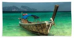 Thai Boat  Bath Towel by Adrian Evans