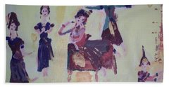 Thai Dance Bath Towel by Judith Desrosiers