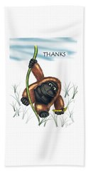 Thanks Hand Towel by Jerry Ruffin