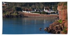 Thatched Cottages, Dunmore Strand Bath Towel