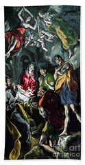 The Adoration Of The Shepherds From The Santo Domingo El Antiguo Altarpiece Bath Towel