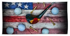The All American Golfer Hand Towel by Paul Ward