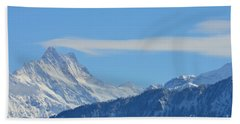 The Alps In Azure Bath Towel
