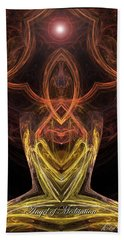 The Angel Of Meditation Bath Towel