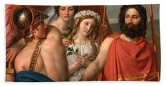 The Anger Of Achilles Hand Towel by Jacques-Louis David