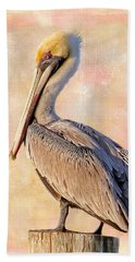 Birds - The Artful Pelican Hand Towel by HH Photography of Florida