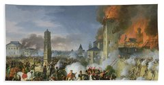 The Attack And Taking Of Ratisbon, 23rd April 1809, 1810 Oil On Canvas Hand Towel