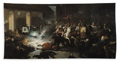 The Attempted Assassination Of Emperor Napoleon IIi 1808-73 By Felice Orsini 1819-59 On The 14th Hand Towel