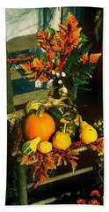 The Autumn Chair Hand Towel by Rodney Lee Williams