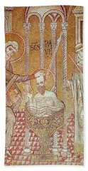The Baptism Of St. Paul By Ananias, From Scenes From The Life Of St. Paul Mosaic Bath Towel