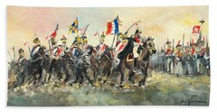 The Battle Of Austerlitz Bath Towel