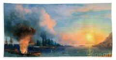 The Battle Of Bomarsund. 1858  Bath Towel