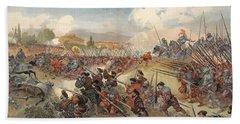 The Battle Of Cerisole, Illustration Bath Towel